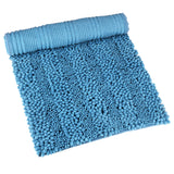 Wimaha Blue 32 x 16 Bath Rugs for Bathroom Large Non-slip Bath Mats
