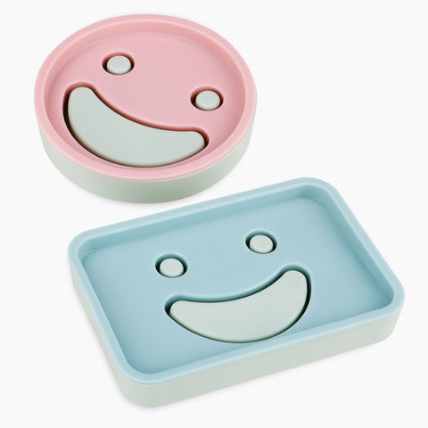 Wimaha Pack of 2Pcs Soap dishes PP Plastic Soap Holder