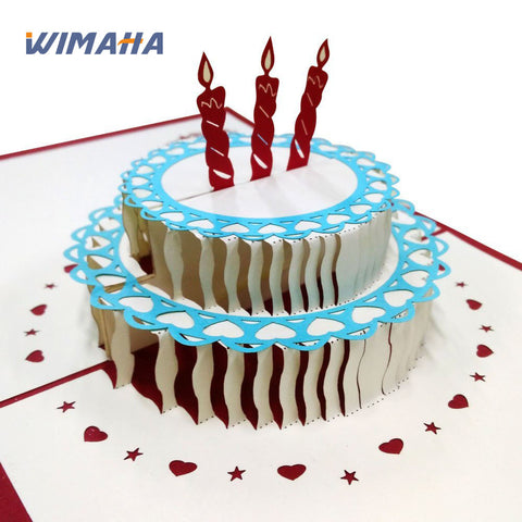 Wimaha 2 Pack Happy Birthday to You Greeting Cards
