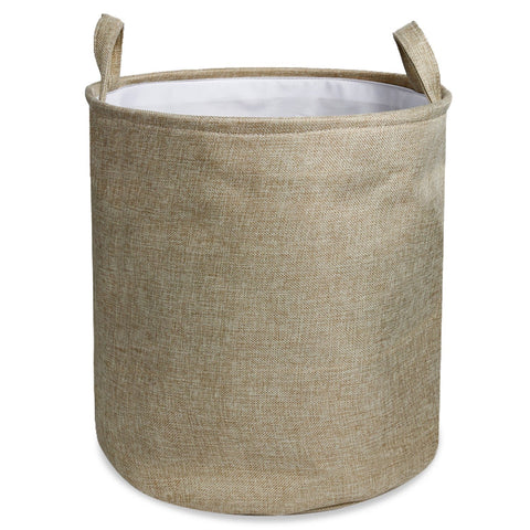 Wimaha Solid Foldable Cotton and Linen Laundry Hamper Baskets,11.5 x 12.5
