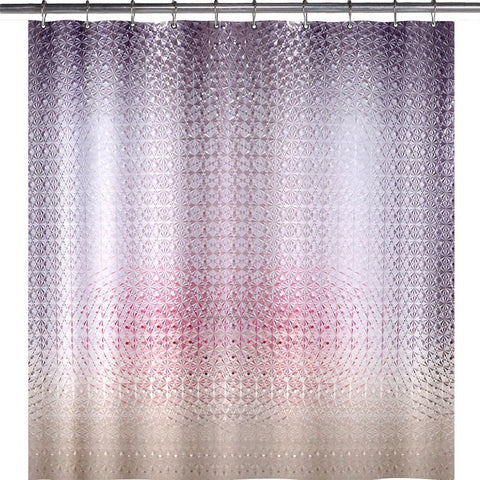 Wimaha Standard Diamond Design EVA Shower Curtain