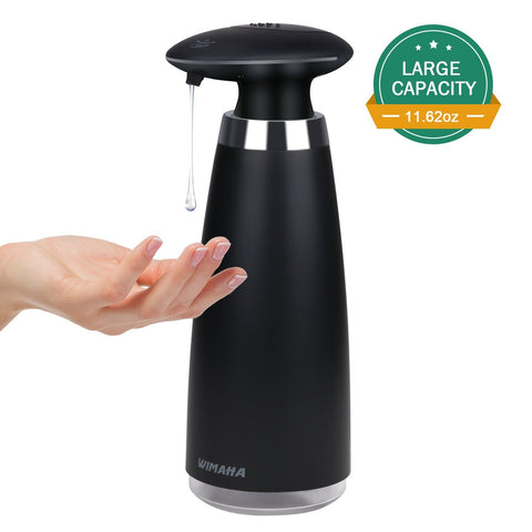 Wimaha 340ml electric automatic soap dispenser (black)