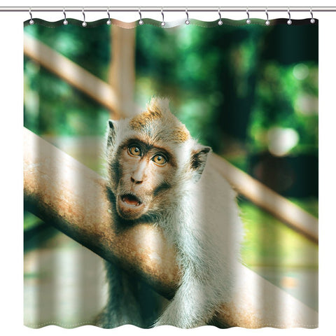 "Wimaha100% fabric polyester shower curtain, pure monkey, (72 ""* 72"")"
