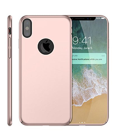 Wimaha Hard PC Case for Apple iPhone X Heavy Duty Protection,Rose Gold