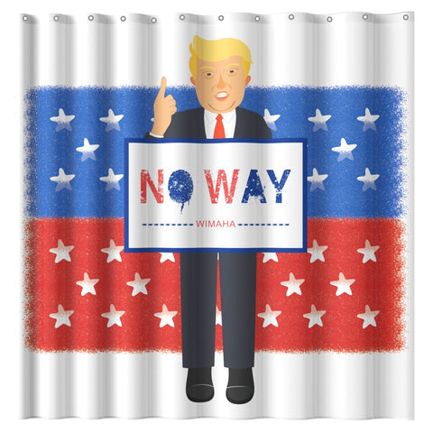 Wimaha Mischievous Donald John Suit Trump Shower Curtain