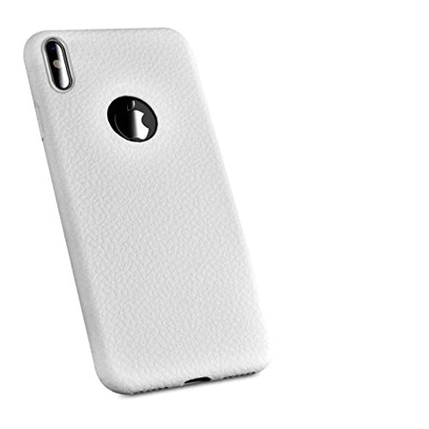 Wimaha Slim Fit TPU Durable Case for Apple iPhone X Non Slip,(White)
