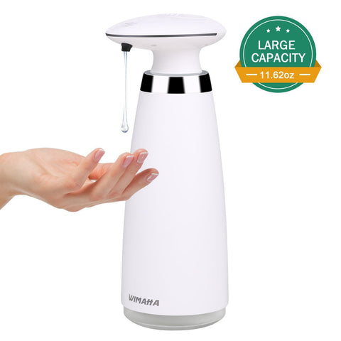 Wimaha 340ml electric automatic soap dispenser (white)