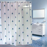 Wimaha Fabric Shower Curtain Polyester Mildew Resistant Shower Curtain
