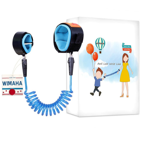 Wimaha 1.5m Toddler Leash Anti Lost Wrist Link Safety Harness Wristband