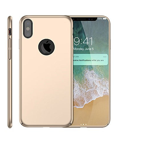 Wimaha Heavy Duty Case for Apple iPhone X Anti-fingerprint,Sweatproof,Gold