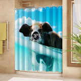 "Wimaha100% fabric polyester shower curtain, swimming piglet (72 ""* 72"")"