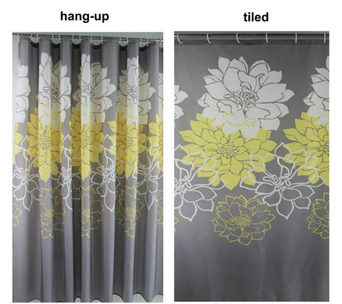 Wimaha Peony Flower Fabric Shower Curtain 72 X