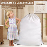 Wimaha Rip-stop Extra Large Cloth Cotton Fabric Laundry Bags