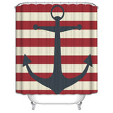 Wimaha Anchor Thicken Fabric Waterproof Shower Curtain