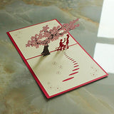 Wimaha 2 Pack  Paper Cutting Desk Cards – Sakura