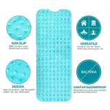 Wimaha super long anti-slip bath mat, blue shower mat