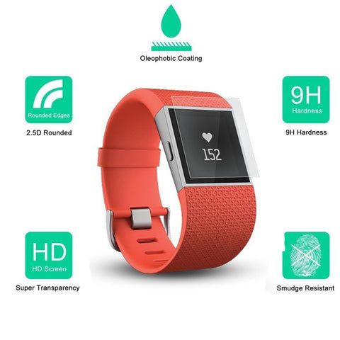 Wimaha US Version 2 Pack Fitbit Surge Screen Protector Tempered