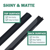 Wimaha 4 Pack Kitchen Stove Counter Gap Covers,Black,21 inch Long