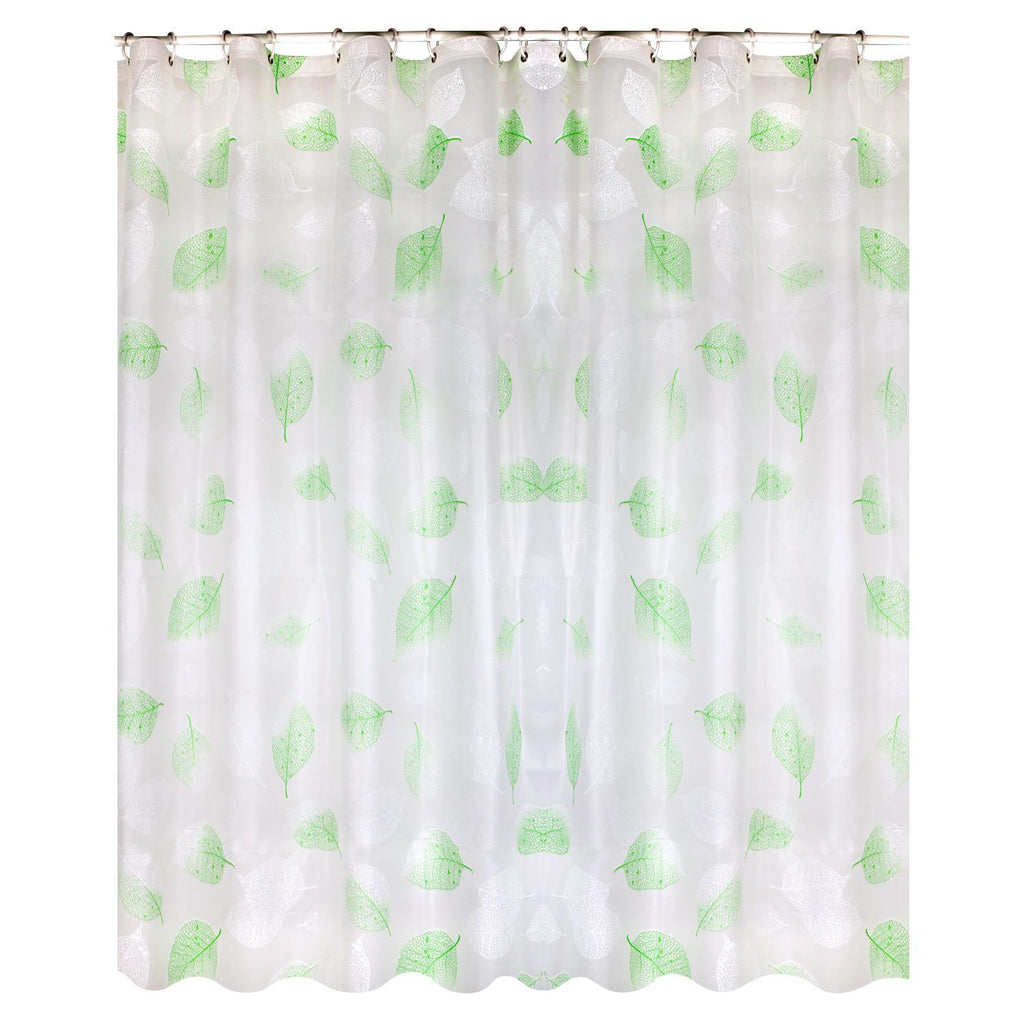 Picture of: Wimaha Leaves Plastic Peva Shower Curtain Liner Clear Wimaha