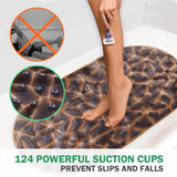 Wimaha tubs and shower pads, anti-slip sucker (diamond brown)