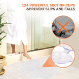 Wimaha PVC Anti-slip Shower Mat Waterproof Anti-Bacterial Bath Mat for Bathroom