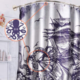 Wimaha Shower Curtain Hooks, Octopus Anti Rust Decorative Resin Rings