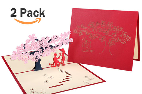 Get 15% off by code-S3WZVZYI- Wimaha 2 Pack  Paper Cutting Desk Cards – Sakura