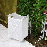 SOSIROLO Foldable Laundry Hamper Large Basket Storage Bag ,Waterproof Toy Organizer Container Room ,Decor White,Used for Children's Room, Laundry Room, College Dormitory or Travel