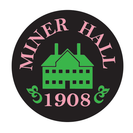 Miner Hall (Black) Button