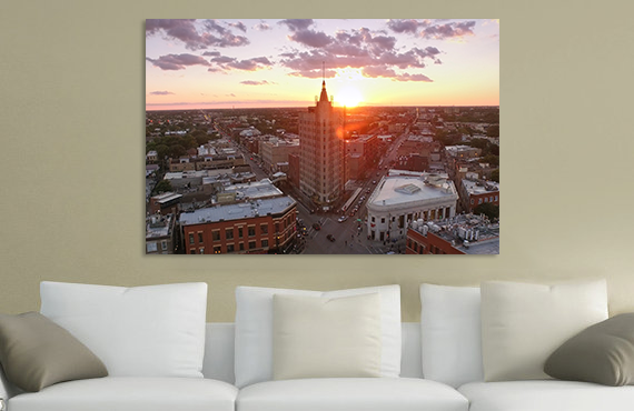 "Chicago ""Golden Hour"" Canvas"