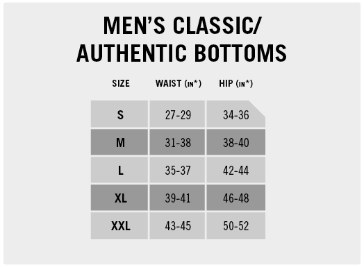 Men's Classic/Authentic Bottoms
