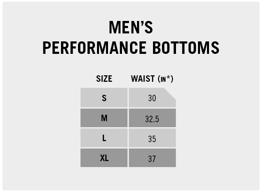 Men's Performance Bottoms
