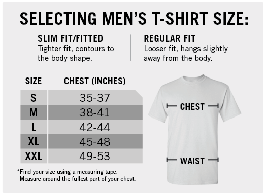 Selecting a Men's T-Shirt Size