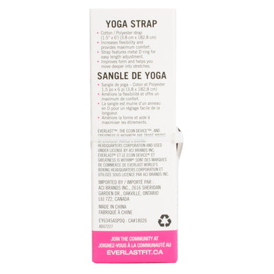 Everlast Yoga Strap by Everlast Canada