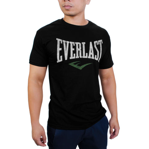 Everlast Logo Shirt Black Distressed by Everlast Canada