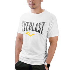 Everlast Logo Shirt White Distressed by Everlast Canada