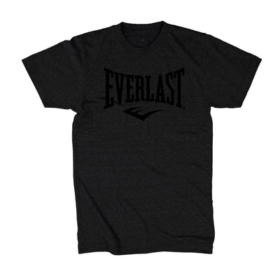 Everlast Logo Shirt Black on Black by Everlast Canada