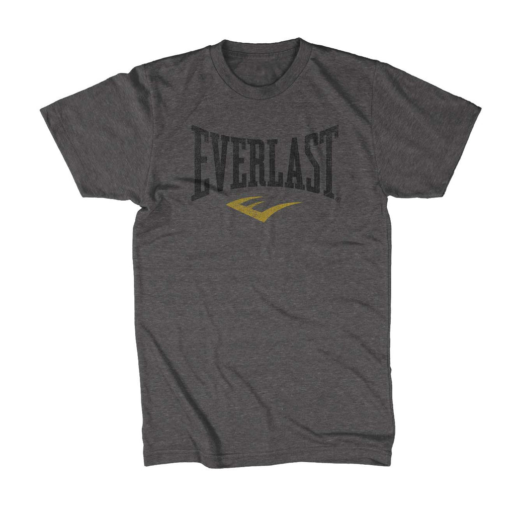 Everlast Logo Shirt Charcoal Distressed by Everlast Canada