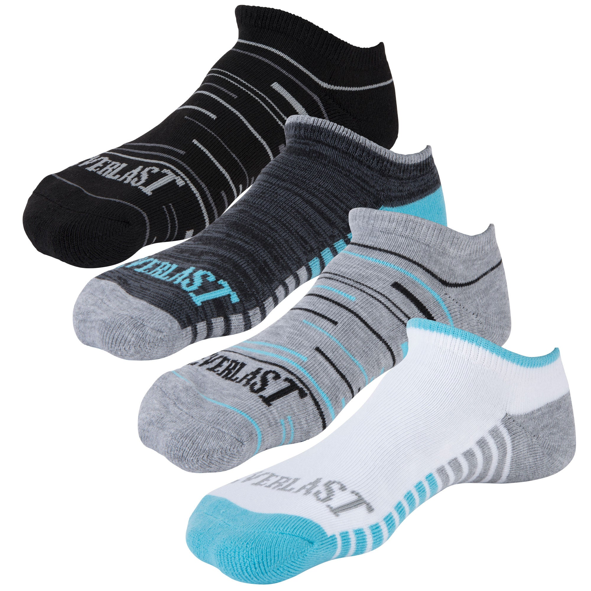 Everlast Ladies No Show Socks - 4 Pack