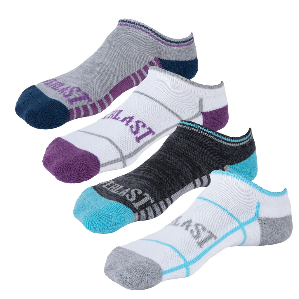 Everlast Girls No Show Socks - 4 Pack by Everlast Canada