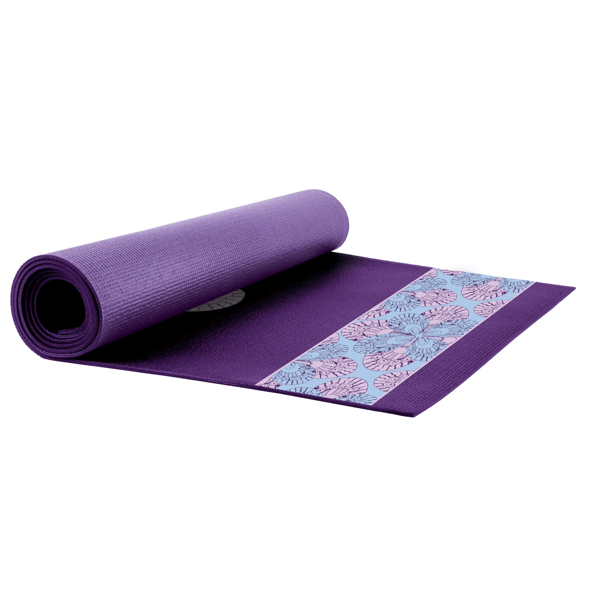 Everlast Purple Print Yoga Mat by Everlast Canada