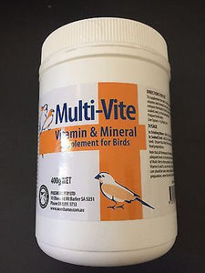 PASSWELL MULTI-VITE Vitamins and Mineral Supplement for Birds 400g