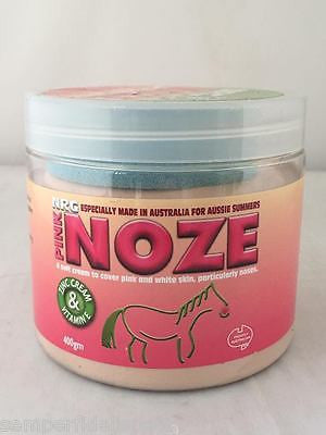 NRG Pink Noze cream 400g for before or after sun on horses contains Zinc, Vit E