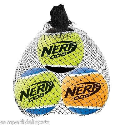 Nerf Dog Squeaker Tennis Balls Small 3 Pack 5cm