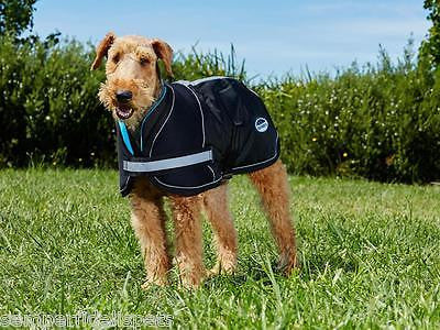 Weatherbeeta Parka 1680D Dog Coat Black/Silver Waterproof Premium Strength Outer