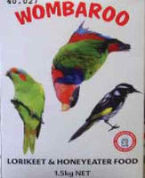 Wombaroo Lorikeet & Honeyeater bird food 4.5 kg powder/liquid nectar