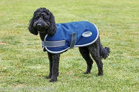 Weatherbeeta Parka 1200D Dog Coat Navy/Grey/White Waterproof Super Strong Outer