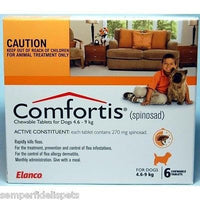 Comfortis For Dogs 4.6-9kg Orange 6 Tablets