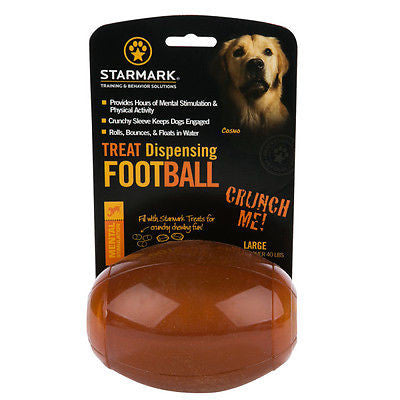 Starmark Treat Dispensing Football Medium  NEW!!!