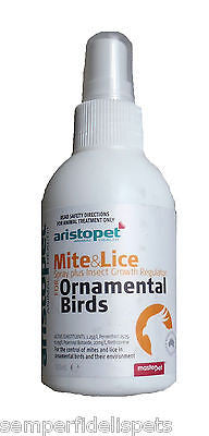 Aristopet Mite & Lice spray + insect growth regulator for Ornamental Birds 125ml